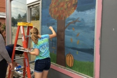 Fall Window Painting 2017